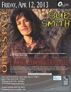 Sue Smith at Elora Accoustic Cafe