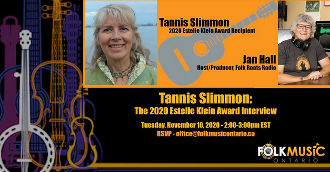 Tannis Slimon Estelle Klein Award Interview